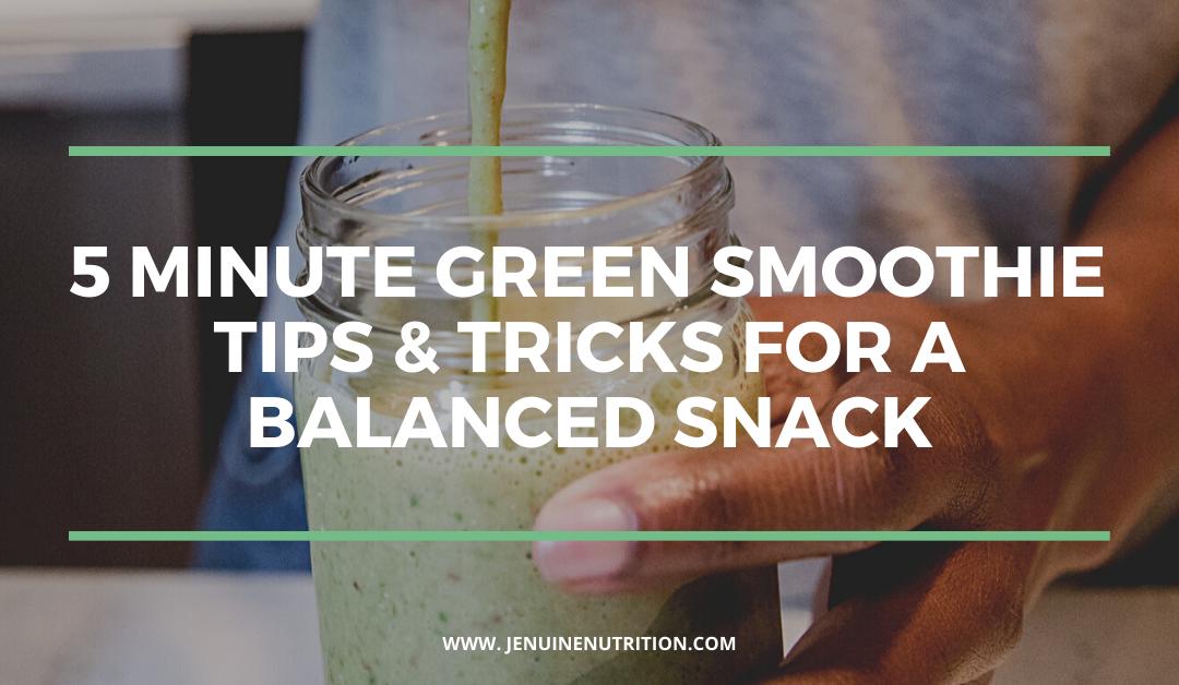 5 Minute Green Smoothie + Blender Hack!