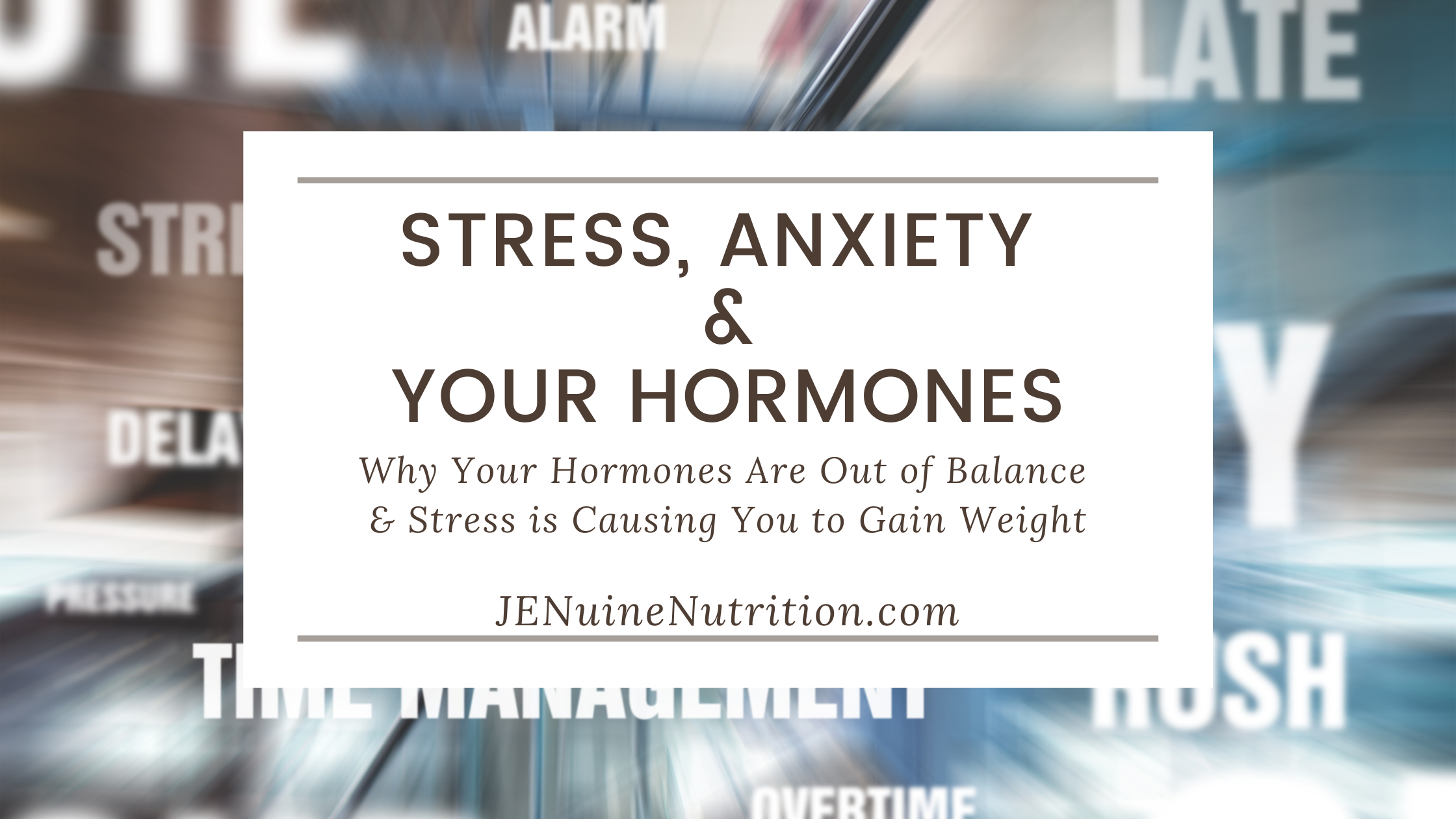 Stress, Anxiety & Your Hormones