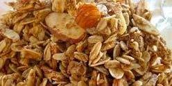 Homemade Granola Recipe-Baked Peach Vanilla Cinnamon & Almond